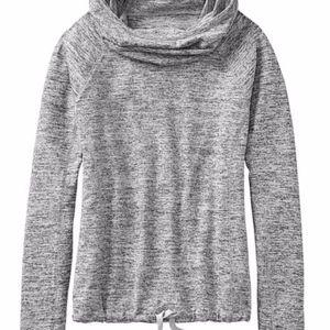 Athleta Blissful Hoodie Gray Popover Sweatshirt XS